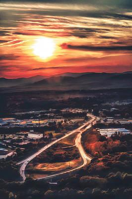View Of Lynchburg Poster by Joshua Minso