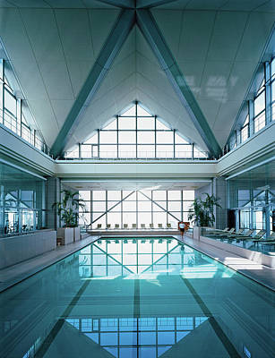 View Of Modern Swimming Pool Poster