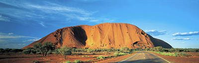 View Of Mount Uluru, Northern Poster