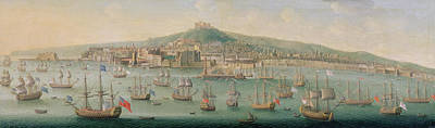 View Of Naples Poster by Gaspar Butler