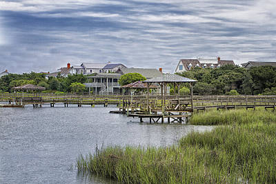 View Of Pawleys From The Creek Poster by Sandra Anderson
