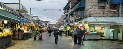 View Of People In Market, Mahane Yehuda Poster