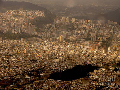 View Of Quito From The Teleferiqo Poster by Eleanor Abramson