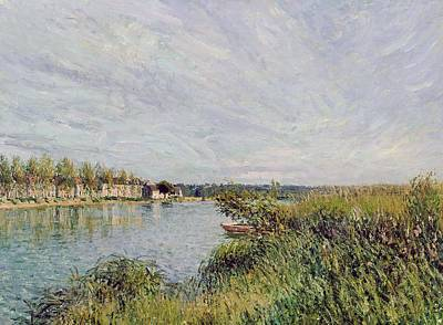 View Of Saint Mammes Poster by Alfred Sisley