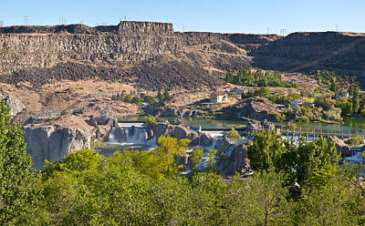 View Of Shoshone Falls In Twin Falls Poster
