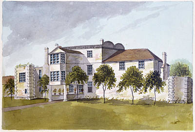 View Of Sir Noel De Carons House, 1809 Wc On Paper Poster by English School