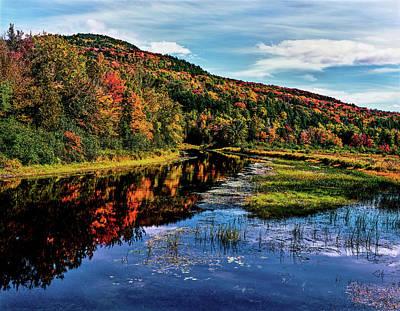 View Of Small Lake North Of Saranac Poster