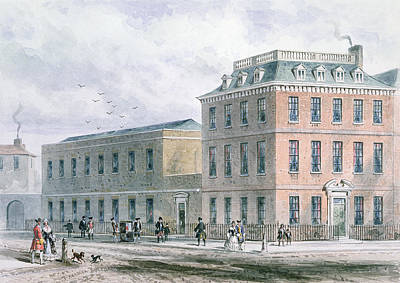 View Of Soho Square And Carlisle House Wc On Paper Poster