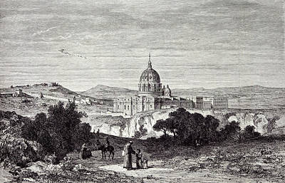 View Of St. Peters And The Vatican Poster by English School