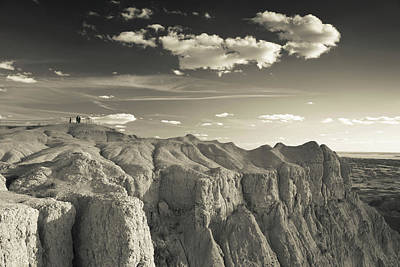 View Of The Badlands National Park Poster
