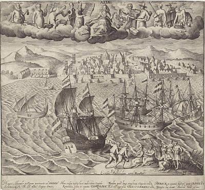 View Of The City Bantam, Pieter Serwouters Poster by Pieter Serwouters And Dirck Pietersz. Voscuyl