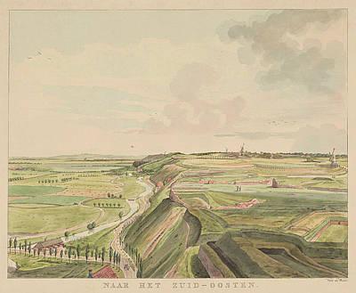 View Of The Countryside Southeast Of Nijmegen Poster by Derk Anthony Van De Wart