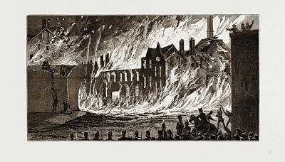 View Of The Fire From Newmarket, London, Uk Poster