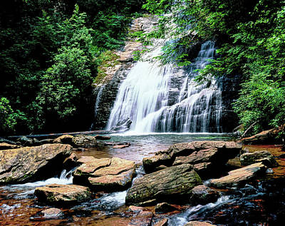 View Of The Helton Creek Falls Poster