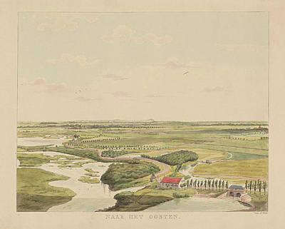 View Of The Landscape East Of Nijmegen, Derk Anthony Van De Poster by Derk Anthony Van De Wart