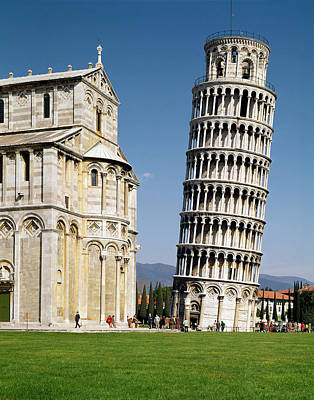 View Of The Leaning Tower Photo Poster by Bonannus of Pisa