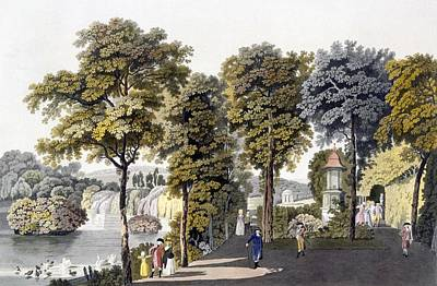 View Of The Park At Neu-waldeg Poster by Laurenz Janscha