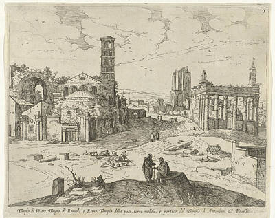 View Of The Roman Forum, Willem Van Nieulandt II Poster
