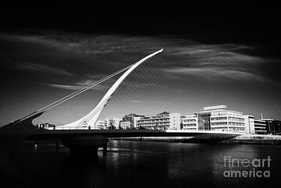 View Of The Samuel Beckett Bridge Over The River Liffey Dublin Republic Of Ireland Poster by Joe Fox