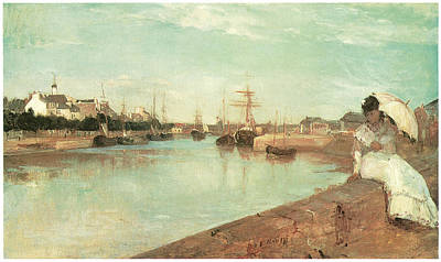 View Of The Small Harbor Of Lorient Poster by Berthe Morisot