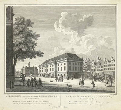 View Of The Square For The New Theater, Nieuwe Schouwburg Poster by Cornelis Bogerts And Theodore Crajenschot