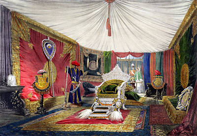 View Of The Tented Room And Ivory Poster