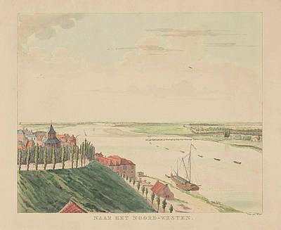 View Of The Valkhof And Waal Northwest Of Nijmegen Poster by Derk Anthony Van De Wart