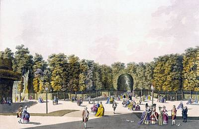 View Of The Walk Of Sighs At Augarten Poster by Johann Ziegler