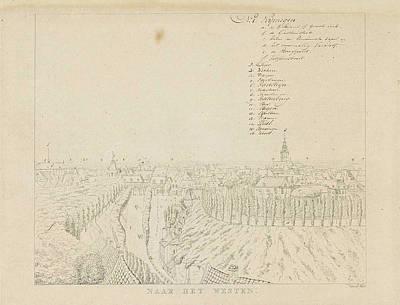 View Of The Western City Of Nijmegen, The Netherlands Poster by Derk Anthony Van De Wart