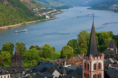 View Over Bacharach And River Rhine Poster