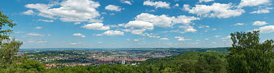 View Over Stuttgart From Monte Poster by Panoramic Images