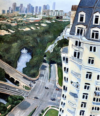 View Over Turtle Creek Poster by Sandra Mucha