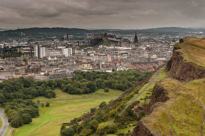 Poster featuring the photograph View To Edinburgh by Sergey Simanovsky