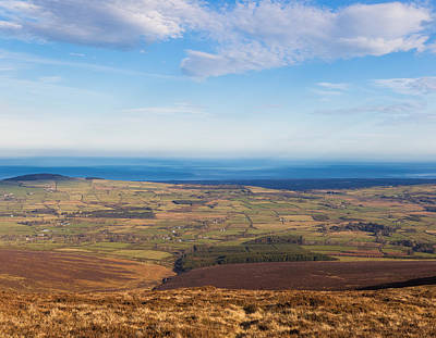 View Towards Greystones From Djouce Mountain Poster