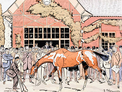 Viewing The Racehorse In The Paddock Poster