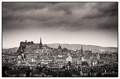Views Across Edinburgh Poster by Lenny Carter