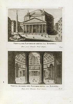 Views Of The Pantheon Poster
