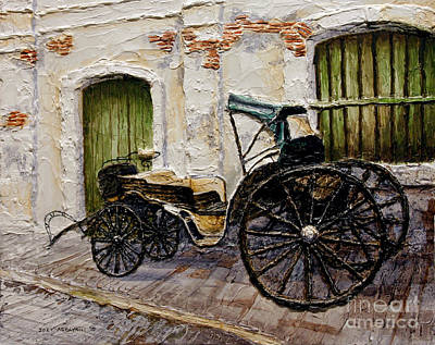 Poster featuring the painting Vigan Carriage 2 by Joey Agbayani