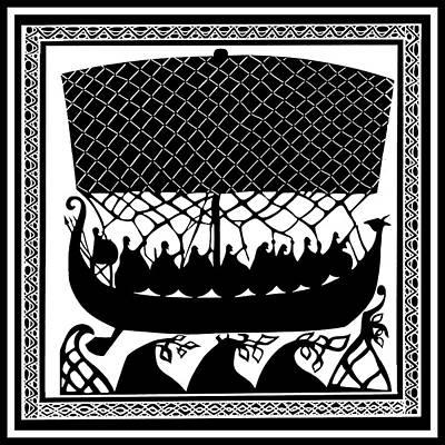 Viking Ancient Mariners Poster by Vagabond Folk Art - Virginia Vivier
