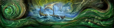 Viking Raiders Poster by Luis  Navarro