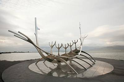 Viking Ship Sculpture Poster by Ashley Cooper