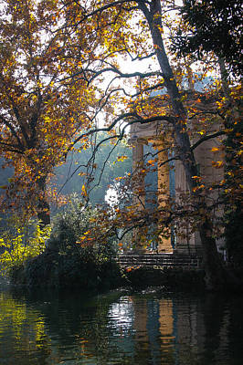 Poster featuring the photograph Villa Borghese Park by Glenn DiPaola
