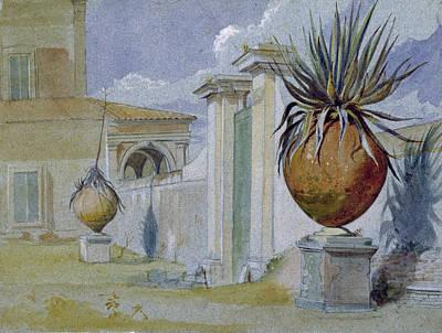 Villa Massimi, Rome Wc & Bodycolour On Paper Poster