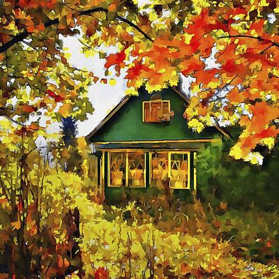 Village At Fall Poster