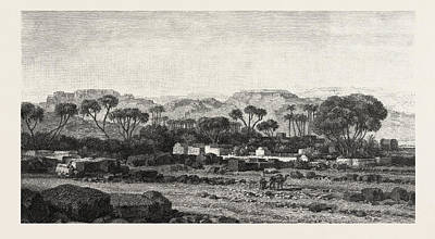 Village Between Assouan And Philae Poster