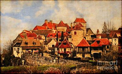 Village De Fleuris Poster
