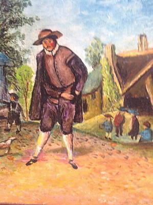 Poster featuring the painting Village Man  by Egidio Graziani
