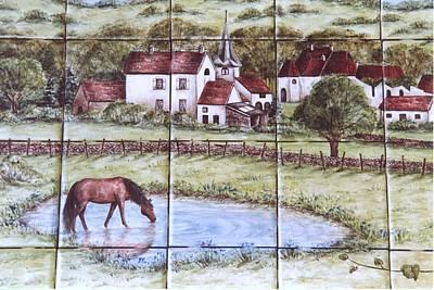 Village Of Burgundy France Poster by Julia Sweda