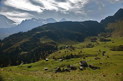 Village Of Spielbodenalp Switzerland Poster