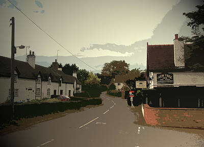 Village Scene In Ednaston, The Yew Tree Public House Poster by Litz Collection